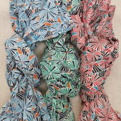 Foulard coton imprimé rond mixte