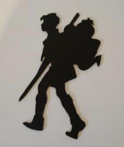 Plaque de porte représentant un scout (5 couleurs au choix)