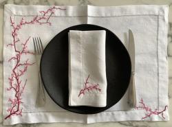 Ensemble 4 sets et 4 serviettes