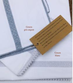 COLLECTION GOUZA, blanc bleu beige et gris