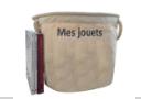 panier brodé « Mes jouets », 40x40 - 50 litres
