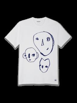 Tee-shirt Femme coton bio Bonnes têtes bleues