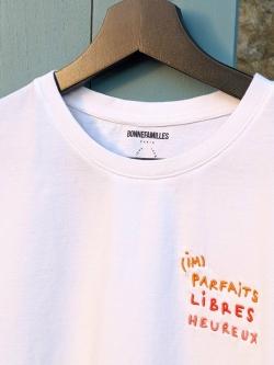 Tee-shirt Femme coton bio brodé (im)parfaits libres heureux