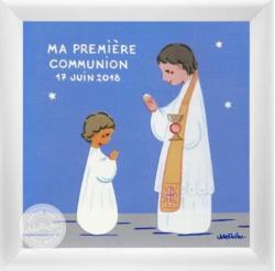 Tableau souvenir de communion - personnalisable