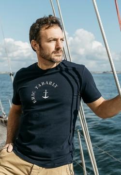 T-Shirt coton bio bleu océan