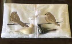 Lot de 2 serviettes (33x33) éponge et savon vanille