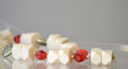 Savon façon CHAPELET/MASBAHA  grand modèle 32 cm Avec perles de différentes couleurs et formes.