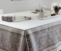 NAPPES 250X150 EYGALIERE TAUPE - TOILE ENDUITE