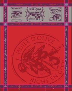 TORCHON Picholine rouge