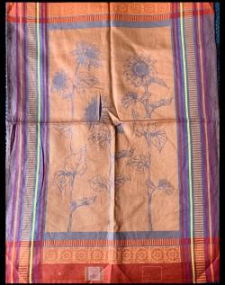 TORCHON Tournesol couleur nectarine