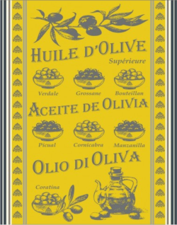 TORCHON Huile d'olive jaune
