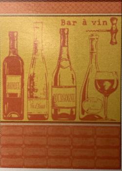 TORCHON Bar à vin orange