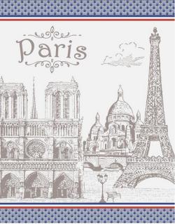 TORCHON Monument de Paris taupe