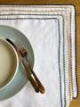 Sets de table en lin blanc doublés
